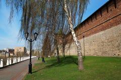 Street along the Kremlin in Nizhny Novgorod Stock Image