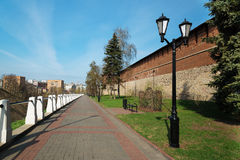 Street along the Kremlin in Nizhny Novgorod Stock Photos
