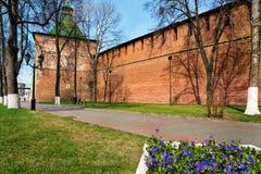 Street along the Kremlin in Nizhny Novgorod Stock Photography