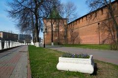 Street along the Kremlin in Nizhny Novgorod Stock Images