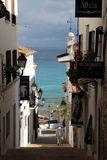 Street in Altea, Spain Royalty Free Stock Photo