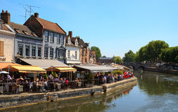 Street in Amiens  Royalty Free Stock Photo