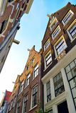 Street in Amsterdam with historic facades Stock Photo