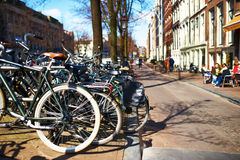 Street at Amsterdam, Netherlands Royalty Free Stock Image