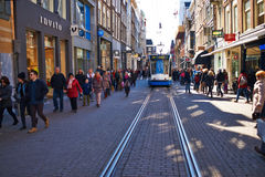 Street at Amsterdam, Netherlands Royalty Free Stock Photo