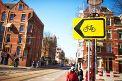 Street at Amsterdam, Netherlands Stock Photo