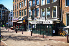 Street at Amsterdam, Netherlands Stock Photography