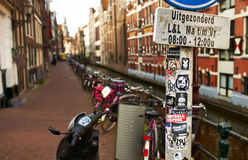Street at Amsterdam, Netherlands Royalty Free Stock Images