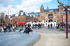 Street at Amsterdam, Netherlands Stock Image