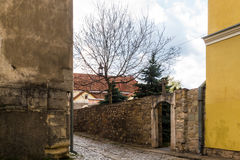 The street in the Ancient City of Kamyanets-Podilsky, Ukraine stock image