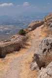 Street of Ancient Corinth. Royalty Free Stock Image