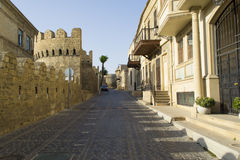 Street in ancient old town Baku Stock Photos
