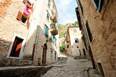 Street of the ancient town of Kotor Royalty Free Stock Photo