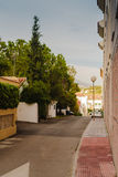 Street In Andalusia. A typical street in the little town in Andalusia, Spain. Follow me on Twitter to see if your travel picture is on focus this week! | The royalty free stock photo