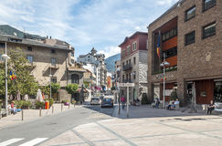 Street of Andorra Royalty Free Stock Photos