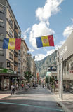 Street of Andorra Royalty Free Stock Photography