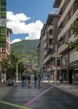 Street of Andorra Stock Image
