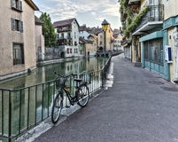 Street in Annecy old city, France, HDR Stock Photo