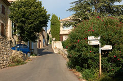 Street in Ansouis village Stock Images