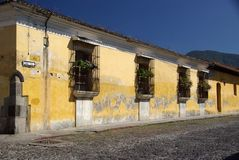 Street in Antigua, Guatemala Stock Image