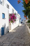 Street in Antiparos island, Cyclades Stock Photography