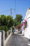 Street in Antiparos island, Cyclades Stock Photos