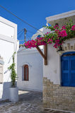 Street in Antiparos island, Cyclades. Greece stock image