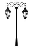 Street antique lights isolated icon. Street light or lamp icon, vector illustration graphic degin Royalty Free Stock Photo