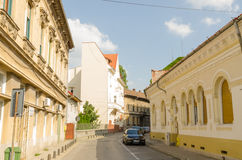 Street in Arad. Arad is the county capital city of the same name, Banat, Romania Stock Photos