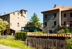 Street of Aragon village in Pyrenees. Sarvise. Spain Stock Photography