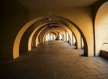 Street Arcade in Krakow Poland Stock Photo