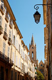 Street architecture in Aix en Provence Royalty Free Stock Photo