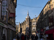 Street Architecture in Lancaster England. Long existing as a commercial, cultural and educational centre, Lancaster is the settlement that gives Lancashire its stock photography