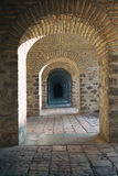 Street architecture in Sheki Azerbaijan Caravanserai Stock Photography