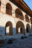 Street architecture in Sheki Azerbaijan Caravanserai Royalty Free Stock Photos
