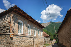 Street architecture in Sheki Azerbaijan Caravanserai Stock Images