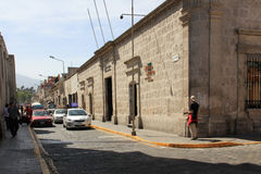 Street in Arequipa, Peru Stock Photography