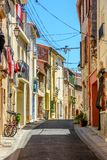 Street in Argeles-sur-Mer in the Pyrenees-Orientales, France royalty free stock photography