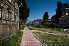 Street in Arkhangelsk Royalty Free Stock Image