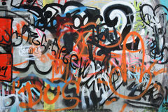 Street art. Color spray street art from the Ostrava city Stock Photography