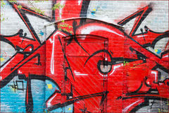 Street art. At an abandoned factory outside Malmoe in Sweden Royalty Free Stock Photography