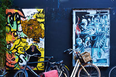 Street art in Amsterdam Stock Image