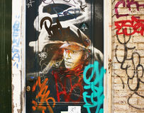 Street art in Amsterdam Royalty Free Stock Images