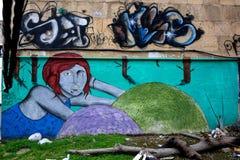 Street art in Baku, Azerbaijan Royalty Free Stock Image