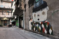 Street art in Bangkok Royalty Free Stock Photo