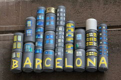 Street art - Barcelona Royalty Free Stock Photography