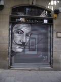 Street art. In Barcelona, Spain royalty free stock photography
