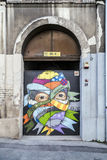 Street art in Belgrade, Serbia Stock Photo