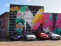 Street Art in Birmingham, England Stock Image
