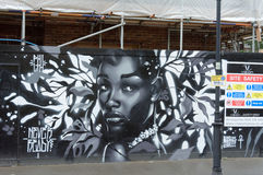Street Art, Black Woman, Brixton, London Stock Image